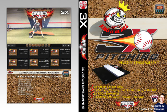 "3X Pitching Velocity Development Kit with ""King of the Hill"""